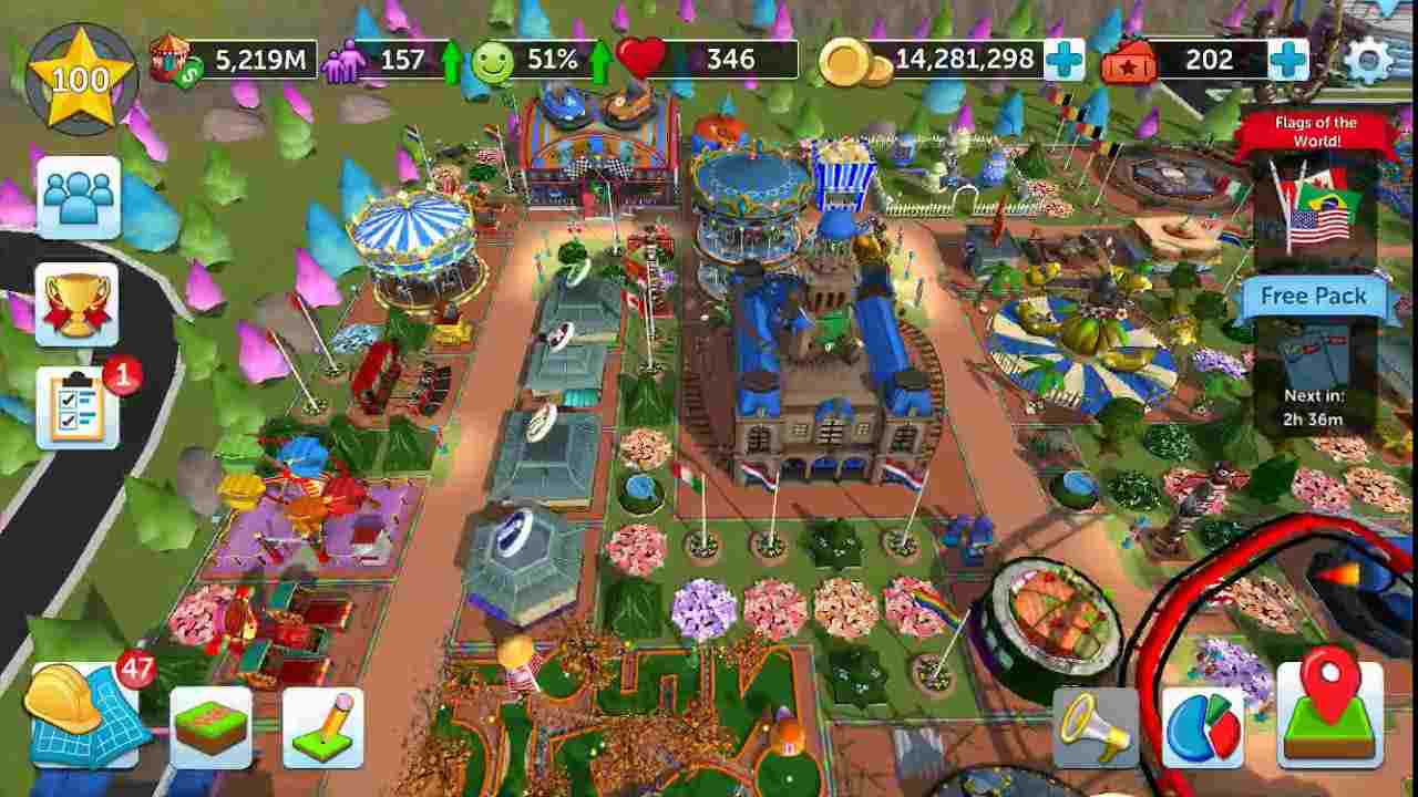 Game RollerCoaster Tycoon Touch Mod